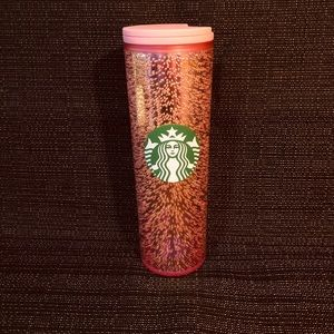 Pink Bubbles Starbucks Cup